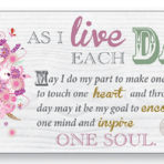 Art Deco Wood Plaque – As I Live Each day