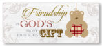 Art Deco Wood Plaque – Friendship