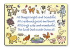 Wood Plaque – All Things Bright and Beautiful