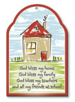Wood Plaque – God Bless My Home 1