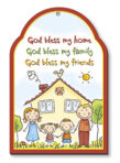 Wood Plaque – God Bless My Home 2